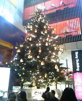 ソニービル前クリスマスツリー
